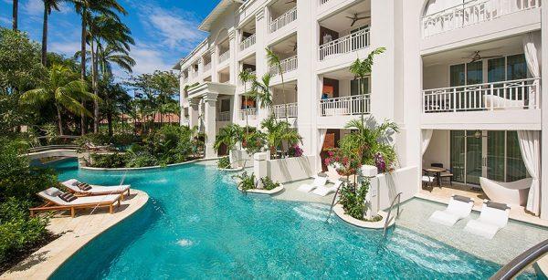 Crystal Lagoon Swim-Up Club Level Luxury Room with Tranquility Soaking Tub